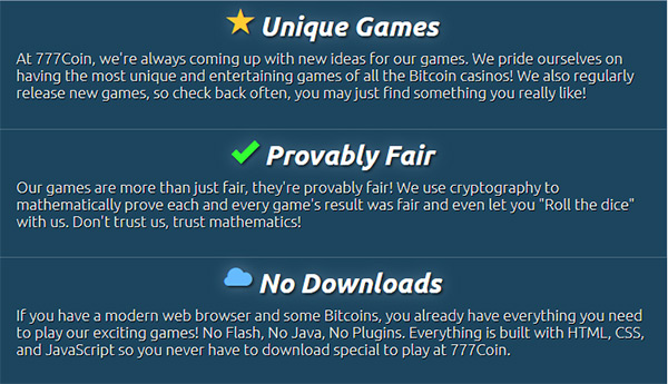 777coin-advantages