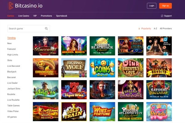 bitcasino.io games